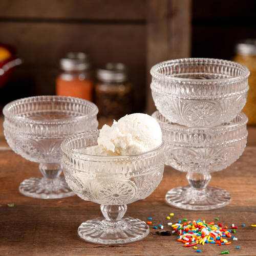 The Pioneer Woman Adeline 4-Piece 10 oz Glass Sundae Cups