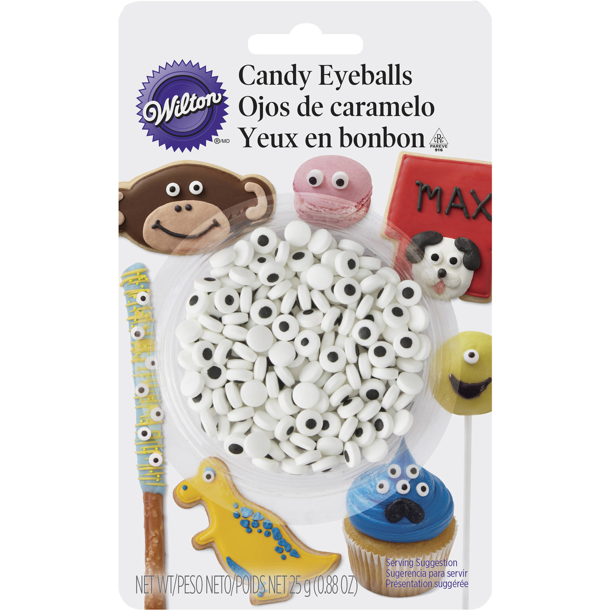 (3 Pack) Wilton Candy Eyeballs, 0.88 oz. - Candy Decorations