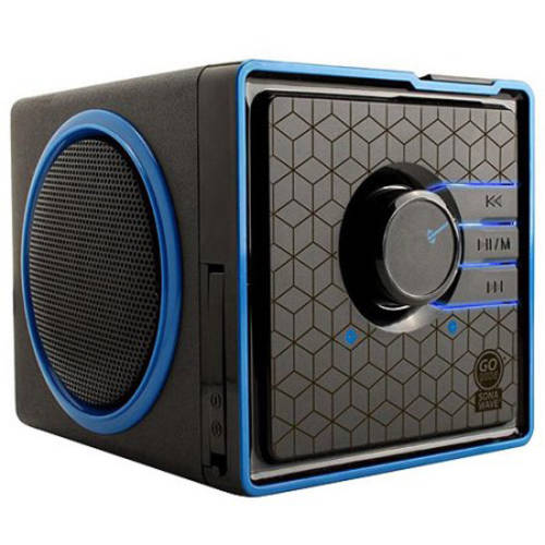 GOgroove SonaVERSE BX Portable Speaker System with Dual Stereo Drivers , Rechargeable Battery and 3.5mm AUX Port - Use with Smartphones , Laptops , MP3 Players and More