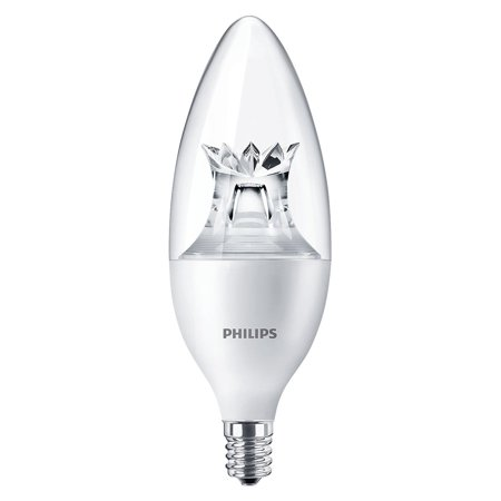 Philips 4.5W B12 Dimmable Warm White E12 Candelabra 40W Replacement LED Bulb (Bp2 Automotive Replacement Bulbs)