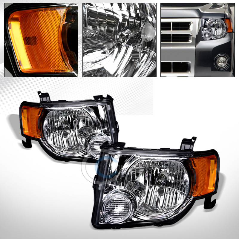 Velocity Concepts Factory Oe Style Chrome Head Lights Turn Signal Lamps Amber Dy 08-12 Ford Escape by Velocity Concepts
