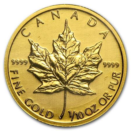 Canada 1/10 oz Gold Maple Leaf (Random Year)
