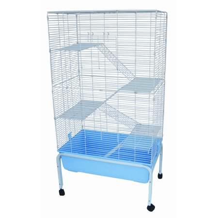 YML ASA3220F3_STD - 3 Levels Indoor Animal Cage Cat Ferret with Stand, Blue