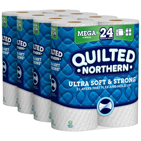 Quilted Northern Ultra Soft & Strong Toilet Paper, 24 Mega Rolls