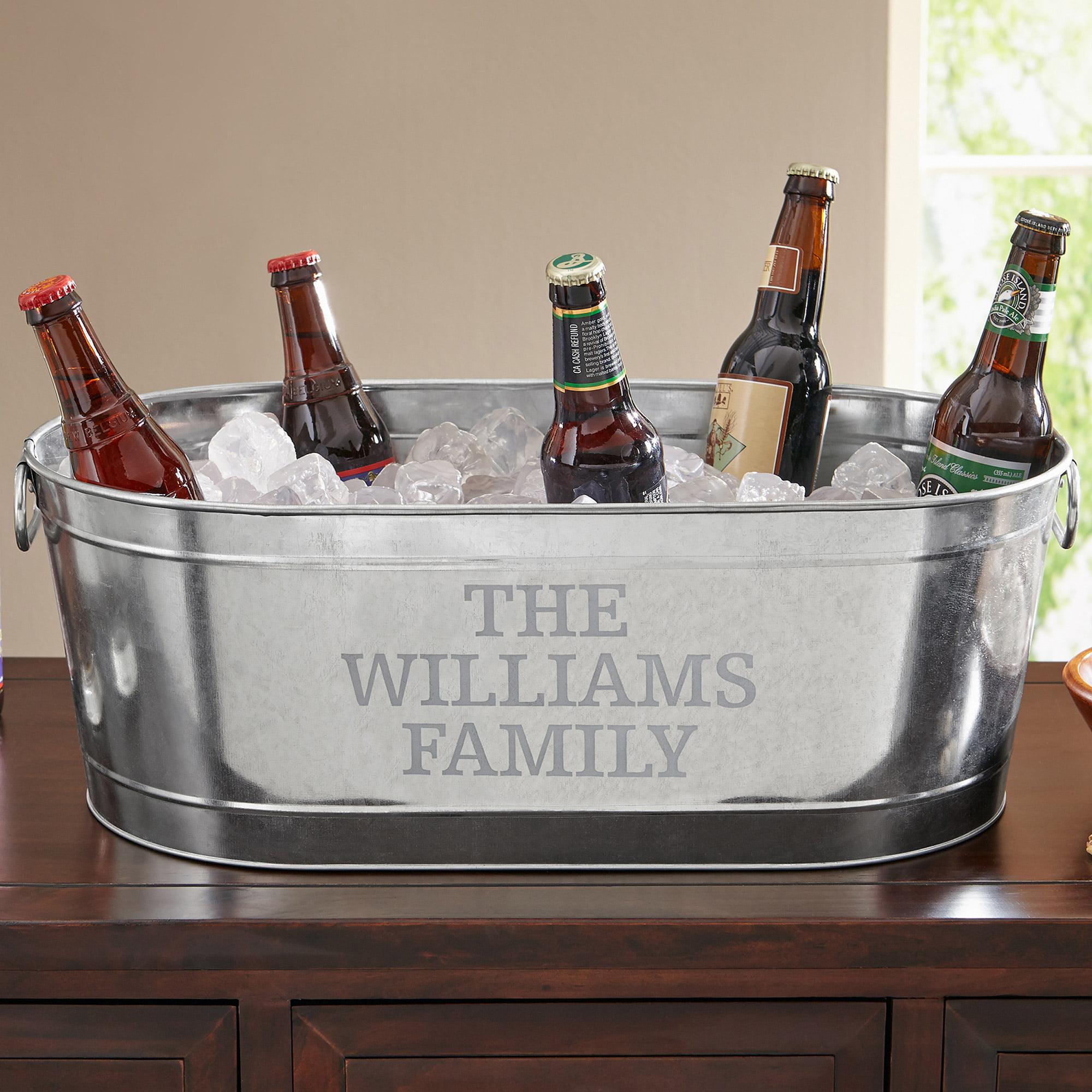 Personalized Galvanized Beverage Tub, Family Name