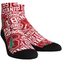 Stanford Cardinal Rock Em Socks Logo Sketch Quarter-Length Socks - L/XL
