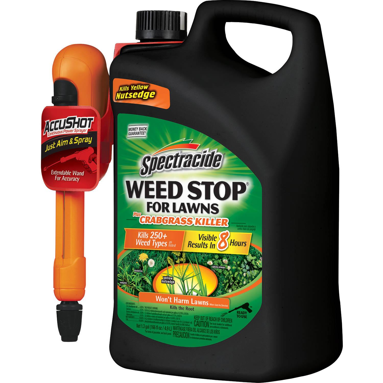Spectracide Weed Stop + Crabgrass Killer AccuShot Sprayer, 1.33 gal