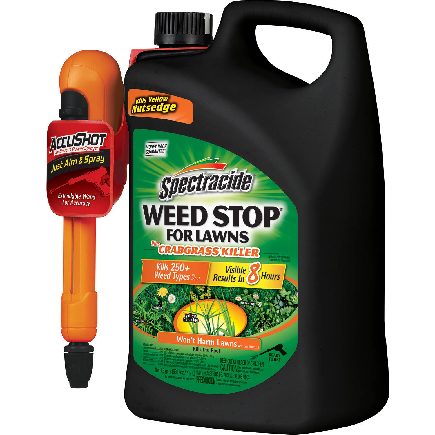 Spectracide Weed Stop for Lawns plus Crabgrass Killer AccuShot Sprayer, 1.33 gal