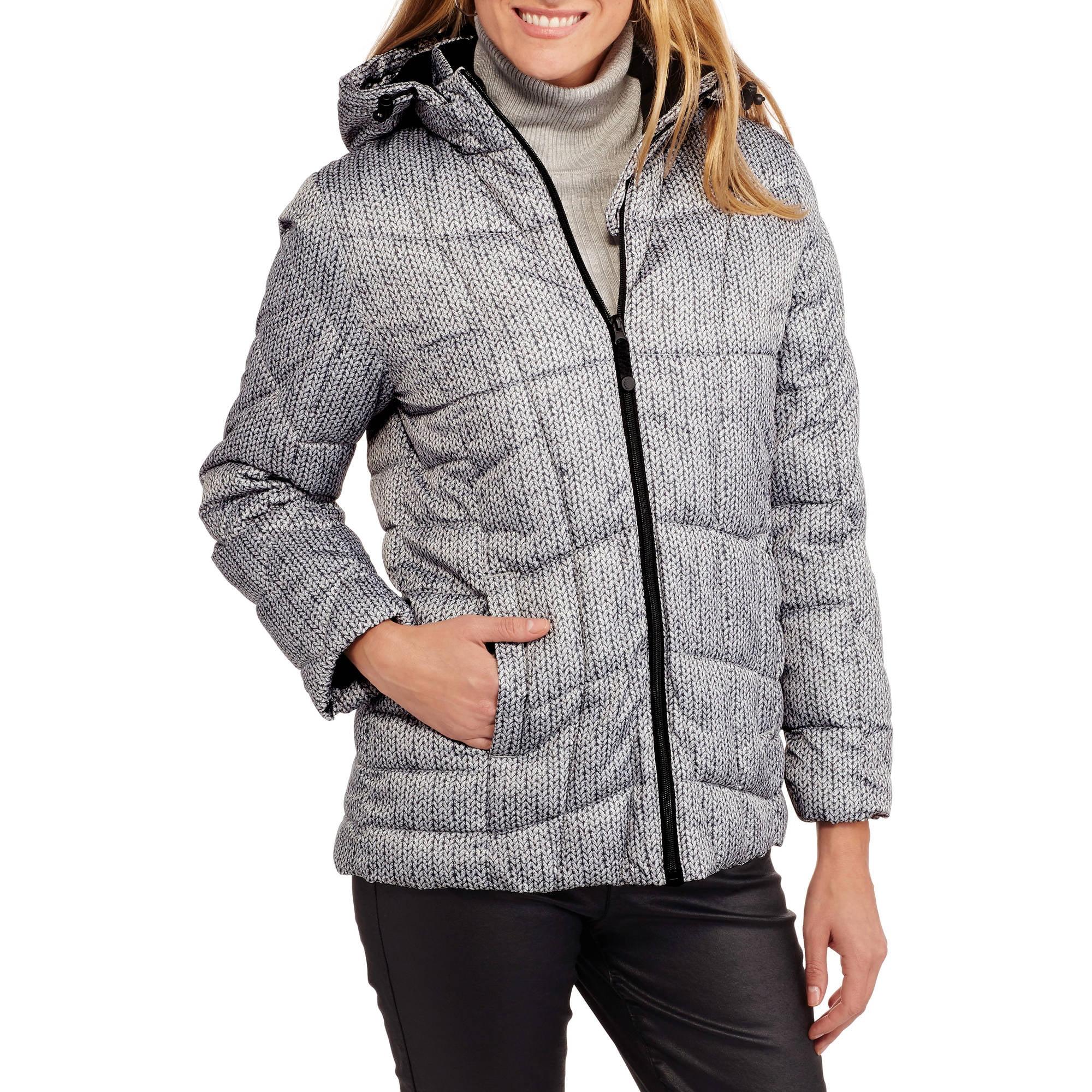 Faded Glory Women's Hooded Puffer Jacket Coat - Walmart.com