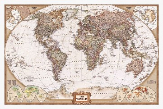 World Map Poster Poster Print   Walmart.com