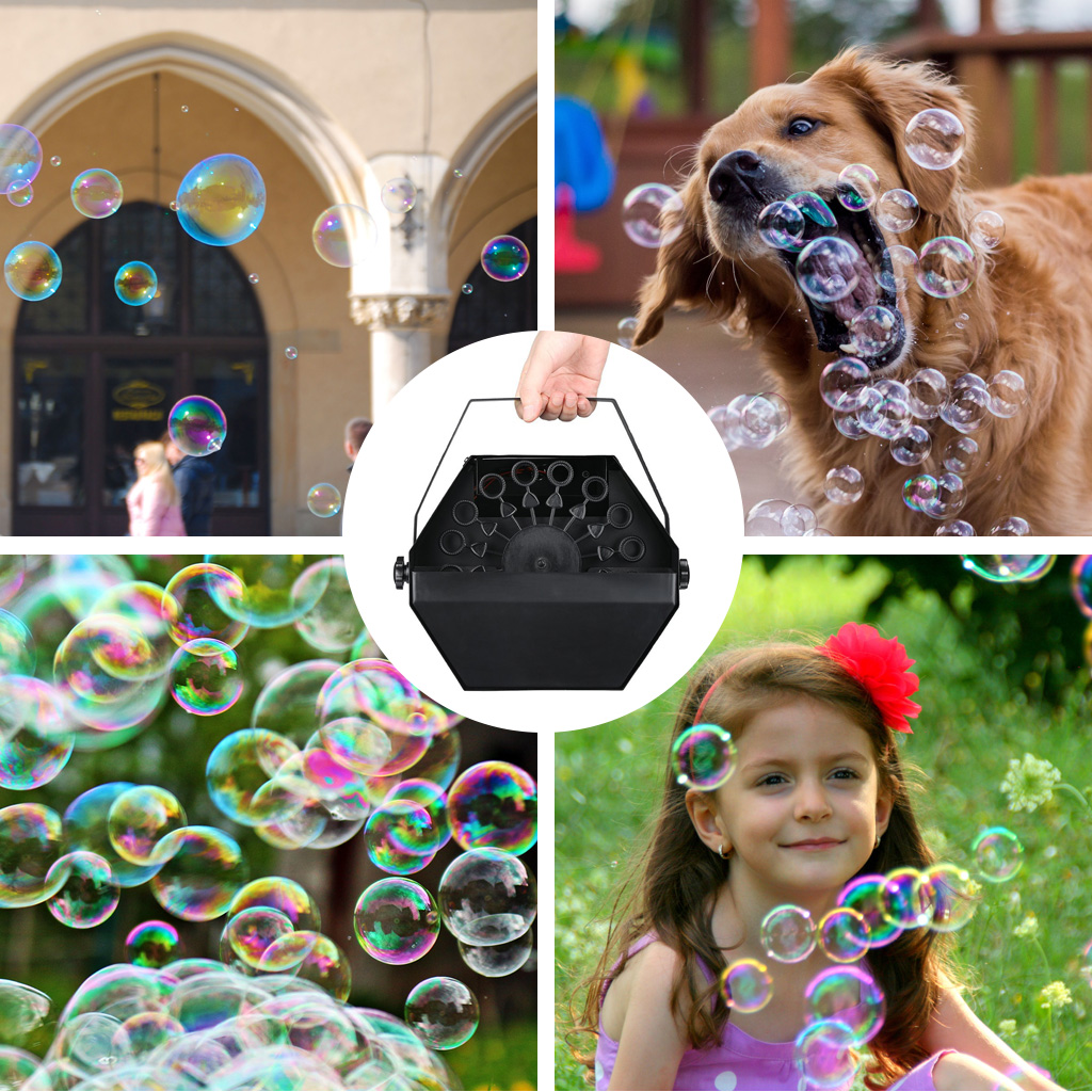 Virhuck Wireless Bubble Machine Portable Electric Bubble Maker Bubble Blower Machine,Remote control Automatic 2to1 Control,with High Output