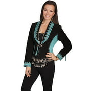 Scully Western Jacket Womens Leather Suede Two Tone Black L153