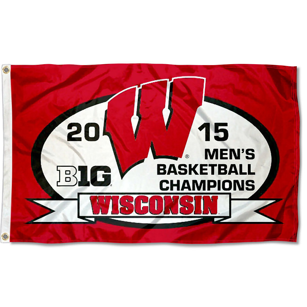 Wisconsin Badgers 2015 Big 10 Champs 3' x 5' Pole Flag