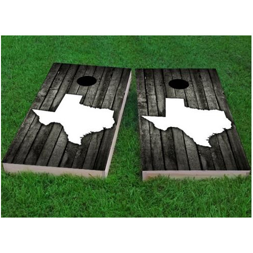 custom cornhole boards wood slat texas themed cornhole game set of 2