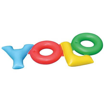 Swimline Inflatable YOLO! Swimming Pool Backyard Fun Raft Float Toy - 6 Long Fun Tube