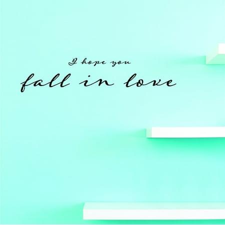 New Wall Ideas I Hope You Fall In Love 8 X 20 Inches](Fall Decor Ideas)