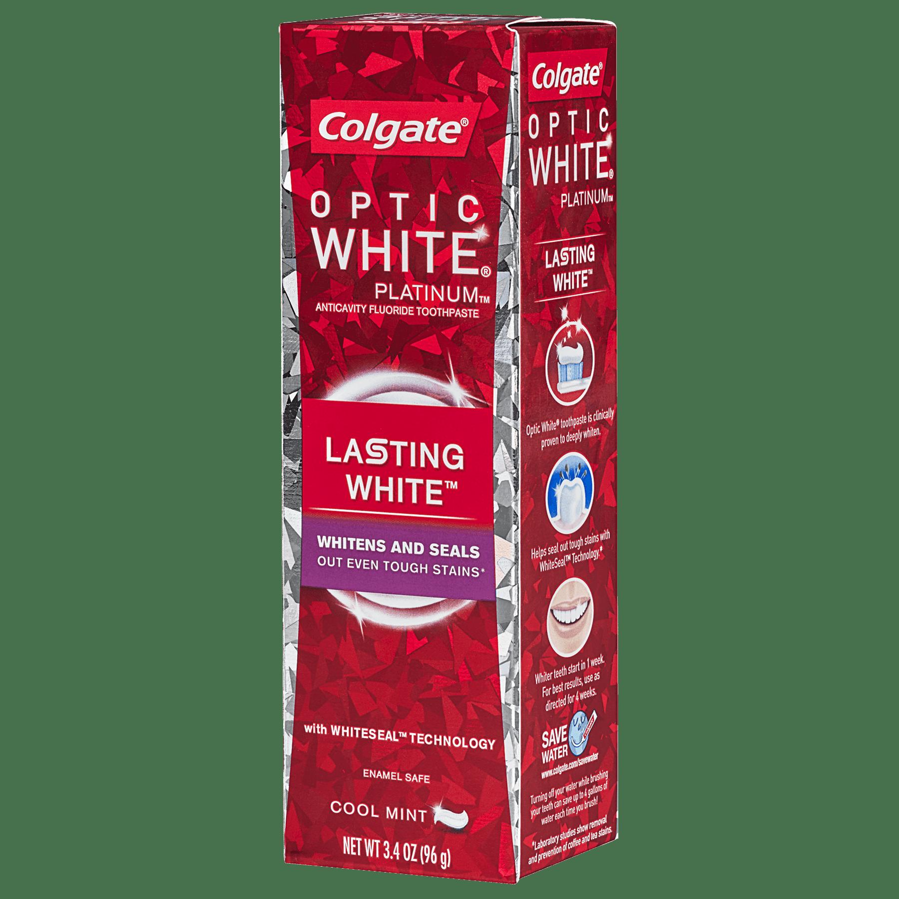 Colgate Optic White Platinum Lasting White Whitening Toothpaste - 3.4 oz