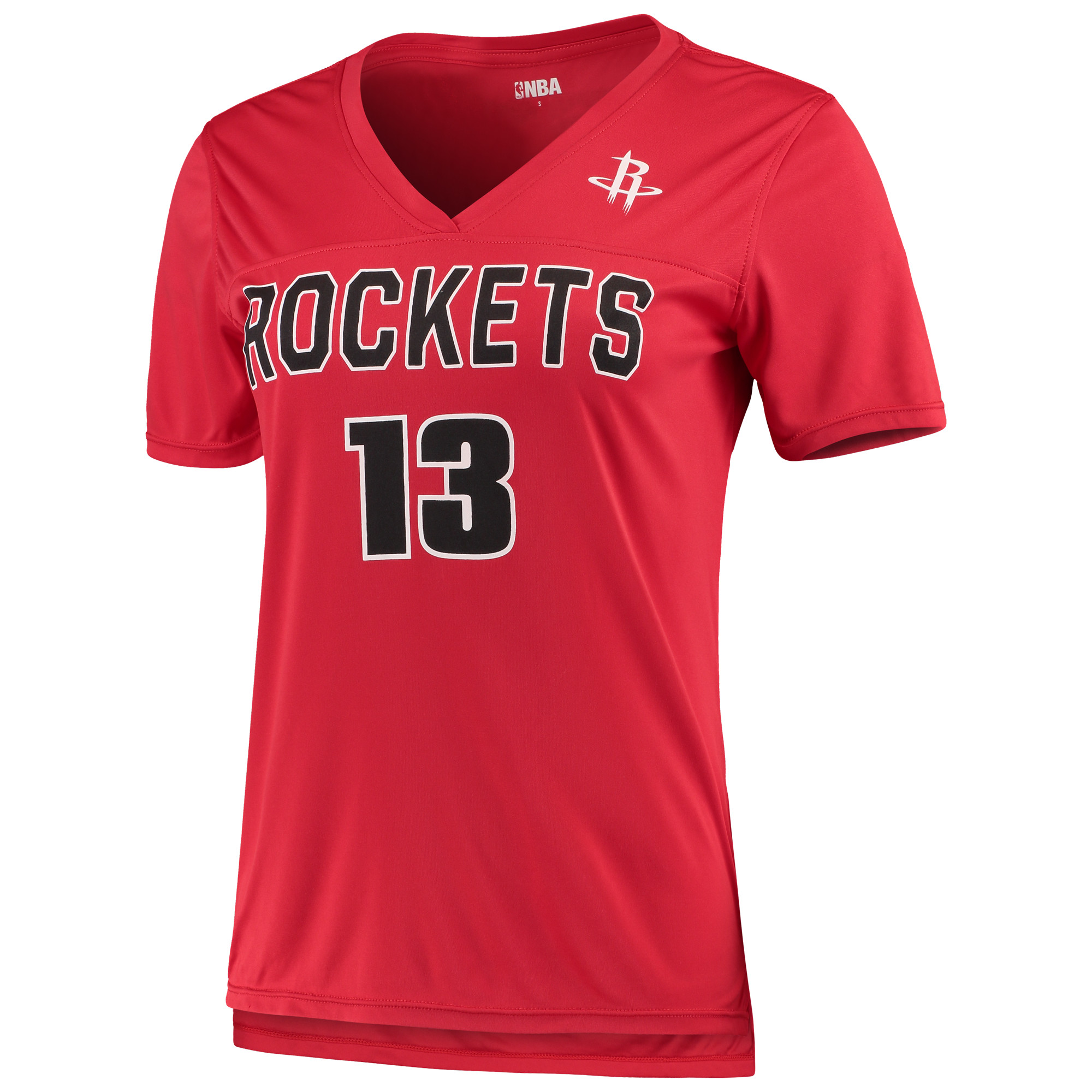 Women's 5th & Ocean by New Era James Harden RedHouston Rockets Name and Number T-Shirt