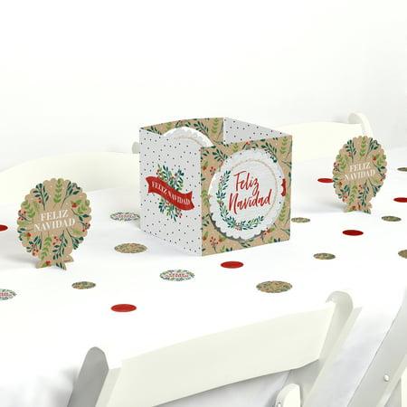 Feliz Navidad - Holiday Spanish Christmas Party Centerpiece Table Decoration Kit - Feliz Navidad Decorations
