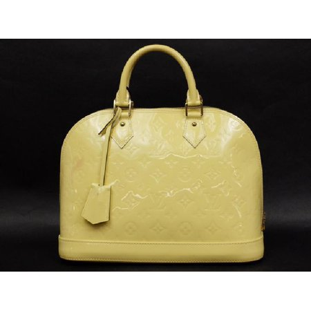 Louis Vuitton ( Rare ) Monogram Vernis Citrine Alma 216297 Pale Yellow Satchel (Louis Vuitton New Monogram)