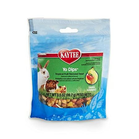 kaytee fiesta yogurt dipped treats tropical fruit and yogurt mix for small animals, 3.5-oz bag (Kaytee Fiesta Small Animal)