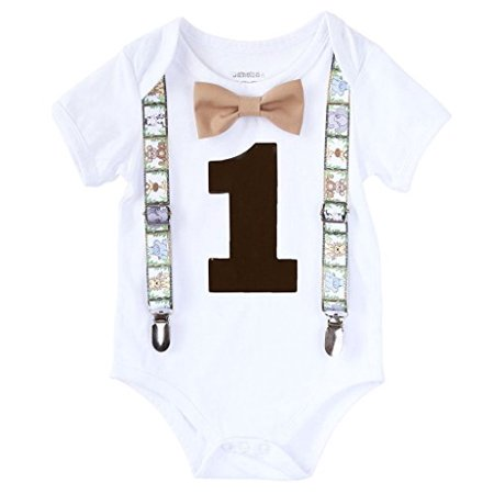 Noah's Boytique Baby Boys First Birthday Party Zoo Animal Theme Outfit 18-24 M - Anime Outfit
