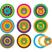POP OUTS WITH PIZZAZZ MOD CIRCLES WITH OWLS