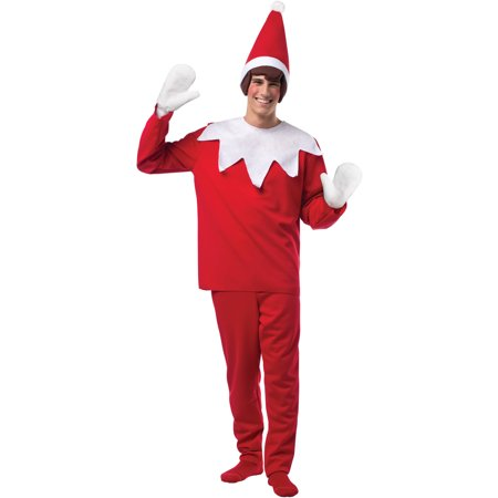 Elf On The Shelf Adult Costume (Elf Halloween Mystery Bag)