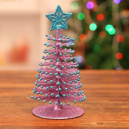 artificial tabletop mini christmas tree decorations festival miniature xmas tree walmartcom