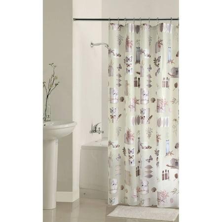 mainstays bamboo nature 39 s momemts peva shower curtain
