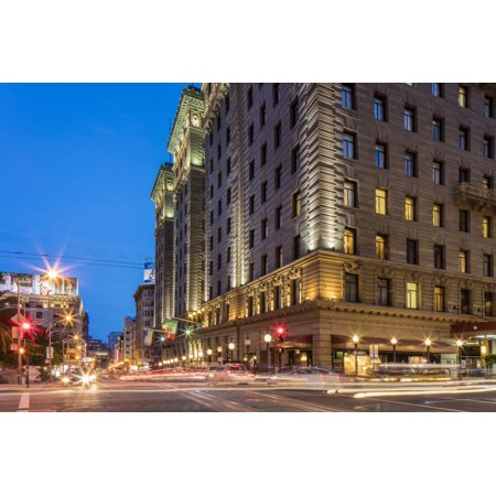 Powell and Geary Street at Dusk in San Francisco, California, Usa Print Wall Art By Chuck (Powell Street In San Francisco)