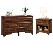 Viabella 2 Piece 6 Drawer Dresser and Nightstand Set in Curado Cherry