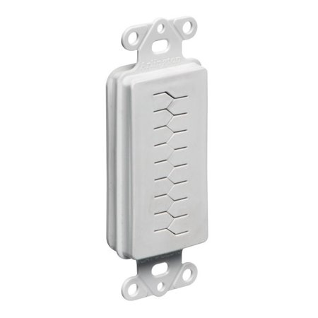 Entry Device (Arlington CED130 Box Mount 1-Gang 1-Port Decora Style Cable Entry Device With Slotted Cover Non-Metallic White)
