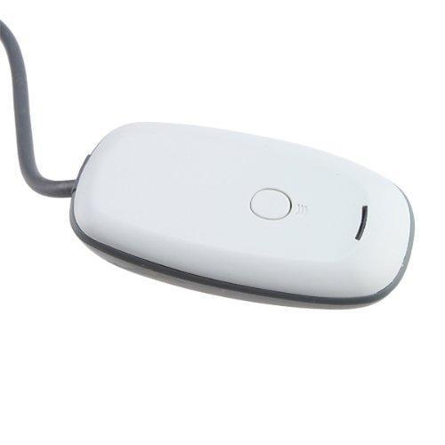 Image of AGPtek New White Xbox360 Xbox 360 Wireless Gaming USB Receiver for PC Windows OS