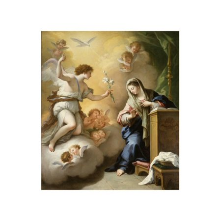 The Annunciation, 1712 Print Wall Art By Paolo Di (Paolo Exterior Wall)