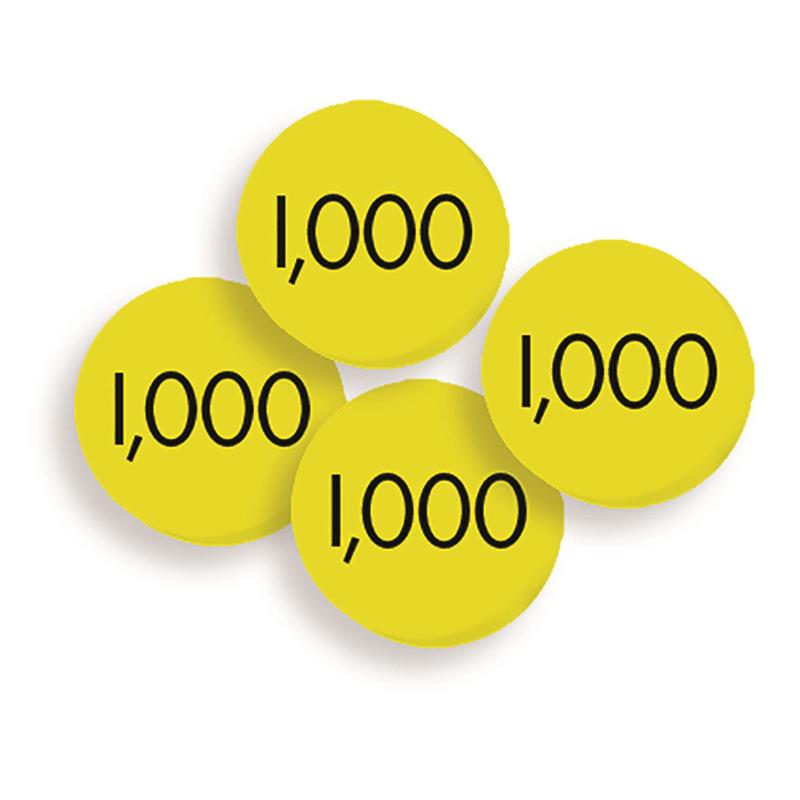 100 THOUSANDS PLACE VALUE DISCS SET