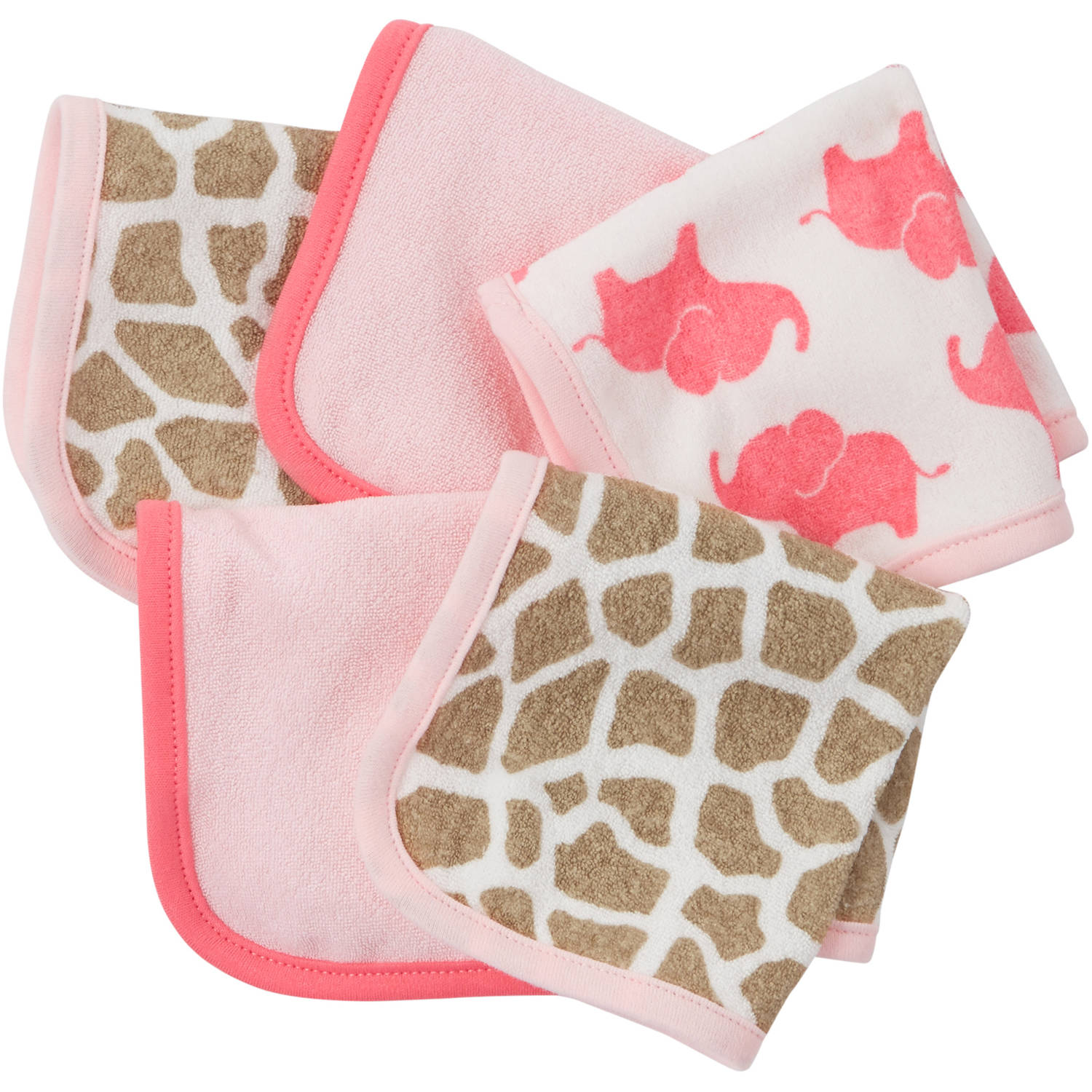 Child of Mine by Carter's Newborn Baby Girl Washcloths, 5 Pack