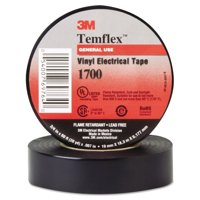 "3M Temflex 1700 Vinyl Electrical Tape, 3/4"" x 60ft -MMM69764"