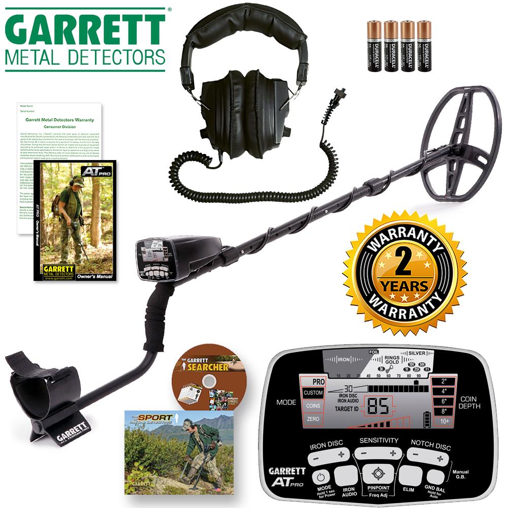 Garrett AT PRO Metal Detector w  Deluxe Stereo Headphones by