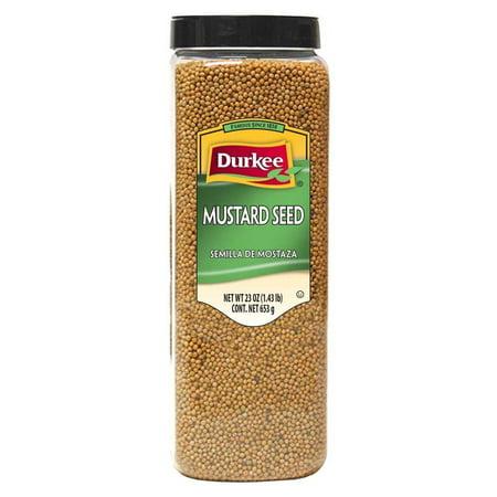 6 PACKS : Durkee Mustard Whole Seed, 23 Ounce (Durkee Seed)