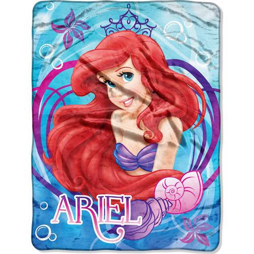 "Disney Ariel Mermaid Dreams 46"" x 60"" Micro Raschel Throw"