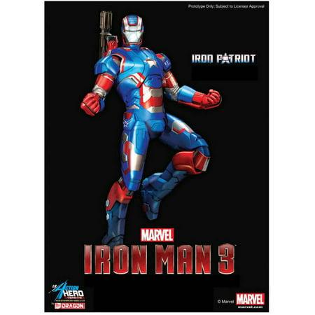 Dragon Models 1/9 Scale Iron Man 3 Iron Patriot Action Hero Vignette (Iron Patriot Suit For Sale)