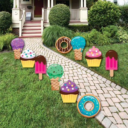 Sweet Shoppe - Lawn Decor - Outdoor Candy and Bakery Birthday Party or Baby Shower Yard Decor - 10 Piece (Halloween Shoppe)