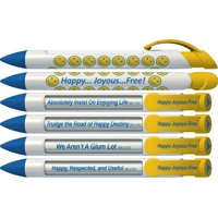 Recovery Pen by Greeting Pen- Happy, Joyous, Free Rotating Message Pen - 6 Pack (36592)