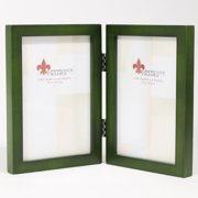 4x6 Hinged Double Green Wood Picture Frame - Gallery Collection