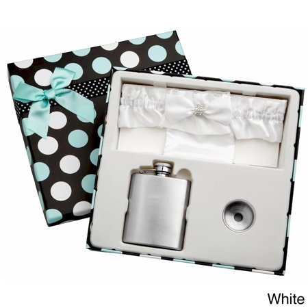 Garter With Flask (top shelf flasks top shelf 3-ounce blue garter belt flask for weddings with gift)