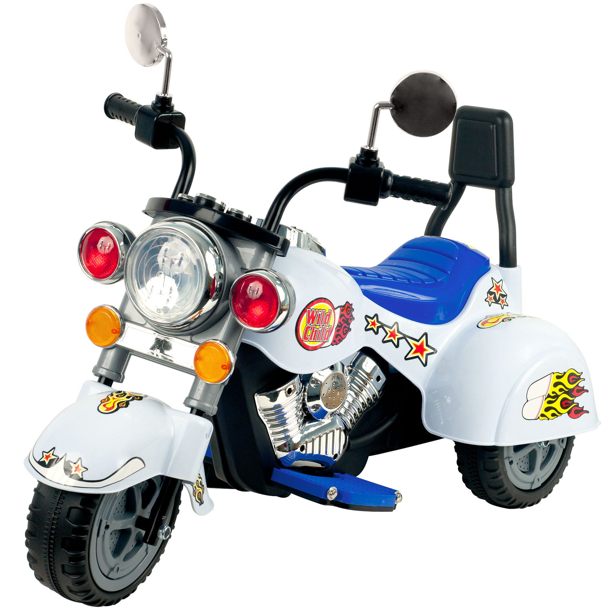 Ride on Toy, 3 Wheel Trike Chopper Motorcycle for Kids by Hey! Play! Battery Powered Ride... by Trademark Global LLC