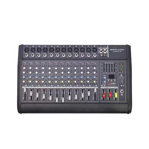Seismic Audio  - LandSlide 12P - 12 Channel DSP Professional Powered Mixer Power - LandSlide-12P
