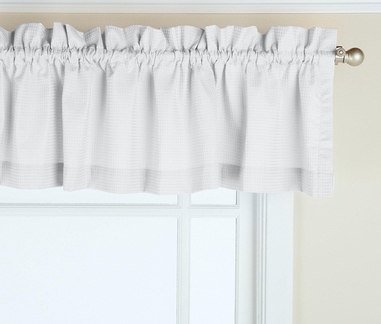 Newport 60 Inch X 12 Inch Rod Pocket Valance Window Curtain White
