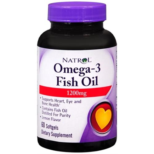 Natrol Omega-3 Fish Oil 1200 mg Softgels 60 Soft Gels (Pack of 3)